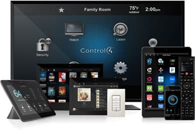 control4 home automation products on devices