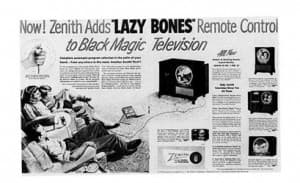 Zenith lazy bones_history of the remote